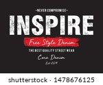 inspire free style denim... | Shutterstock .eps vector #1478676125