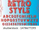 alphabet font script typeface... | Shutterstock .eps vector #1478677295