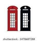 London Red Phone Box   Vector...