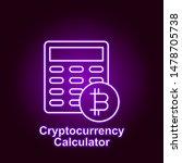 bitcoin calculator outline icon ...