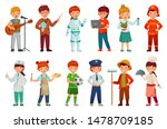 kids workers. child... | Shutterstock .eps vector #1478709185