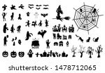 collection of halloween  icons  ... | Shutterstock .eps vector #1478712065
