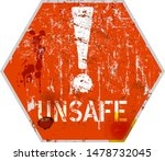 unsafe and danger  computer... | Shutterstock .eps vector #1478732045