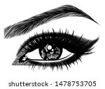 illustration with woman's eye ... | Shutterstock .eps vector #1478753705