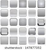 set of blank grey square... | Shutterstock .eps vector #147877352