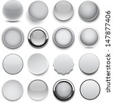 set of blank grey round buttons ... | Shutterstock .eps vector #147877406