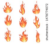 set of fire flames. collection... | Shutterstock .eps vector #1478774072
