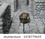 Black D20 Dice On 3d Printed...