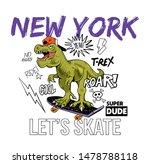cool dude t rex tyrannosaurus... | Shutterstock .eps vector #1478788118