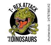 t rex tyrannosaurus rex big... | Shutterstock .eps vector #1478788142