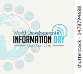 world development information...   Shutterstock .eps vector #1478794688
