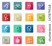 flat icons healthcare fitness... | Shutterstock .eps vector #147879518