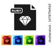 black ruby file document.... | Shutterstock .eps vector #1478796965
