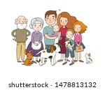 a happy family. parents with... | Shutterstock .eps vector #1478813132
