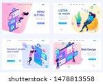 set of isometric concepts menu...