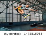 Rollerblader Jump High From Bi...
