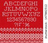 christmas font  scandinavian... | Shutterstock .eps vector #147882512