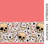 vector creepy pattern with... | Shutterstock .eps vector #1478836418
