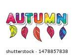 autumn cartoon paper cutout...   Shutterstock .eps vector #1478857838