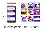 social media mockup pack.... | Shutterstock .eps vector #1478870912