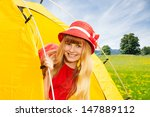 close portrait of blond happy... | Shutterstock . vector #147889112