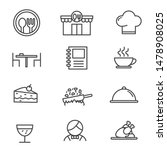 set of restaurant related icon... | Shutterstock .eps vector #1478908025
