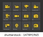 camera icons. vector...