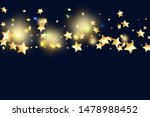 gold star confetti on black...   Shutterstock .eps vector #1478988452