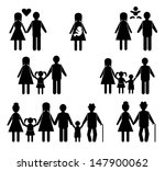 family life icon set | Shutterstock .eps vector #147900062
