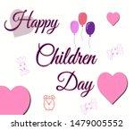 happy children day typography...   Shutterstock . vector #1479005552