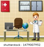 male doctor holding a medical... | Shutterstock .eps vector #1479007952