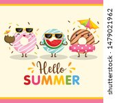 a cute card vector of colorful... | Shutterstock .eps vector #1479021962