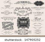 calligraphic design elements... | Shutterstock .eps vector #147905252