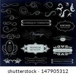 calligraphic design elements... | Shutterstock .eps vector #147905312