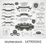 retro vintage calligraphic...   Shutterstock .eps vector #147905342