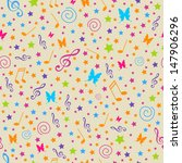 seamless vector pattern with... | Shutterstock .eps vector #147906296