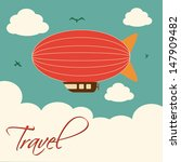 travel design  over sky background vector illustration  - stock vector