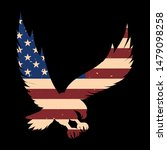 eagle silhouette with usa flag...   Shutterstock .eps vector #1479098258