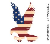 eagle silhouette with usa flag...   Shutterstock .eps vector #1479098312