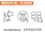medical vector icons set  sign... | Shutterstock .eps vector #1479101705