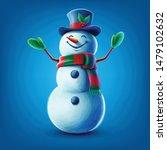 snowman cartoon illustration... | Shutterstock .eps vector #1479102632
