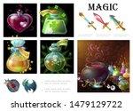 cartoon game magic elements... | Shutterstock .eps vector #1479129722