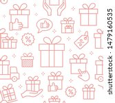 gift box seamless pattern with... | Shutterstock .eps vector #1479160535