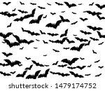 simple black bats flock... | Shutterstock .eps vector #1479174752