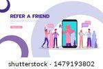 refer a friend concept.... | Shutterstock .eps vector #1479193802