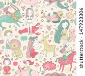 funny seamless pattern with... | Shutterstock .eps vector #147923306