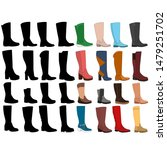 female long boot icon  set with ...   Shutterstock .eps vector #1479251702