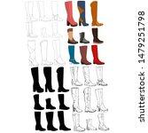 isolated  female long boot...   Shutterstock .eps vector #1479251798