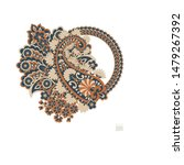 paisley isolated pattern....   Shutterstock .eps vector #1479267392