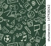 seamless school stuff doodles... | Shutterstock .eps vector #147928262